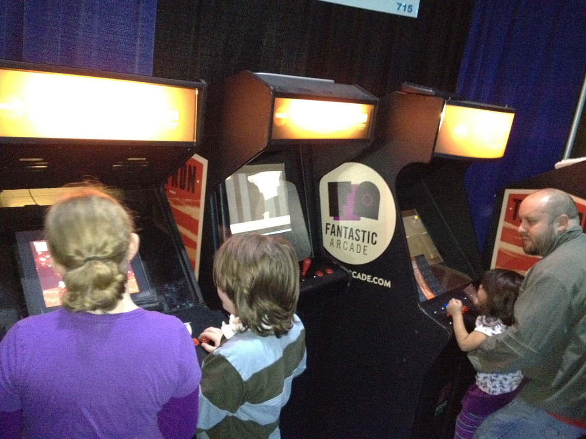 local Texan indie game cabs aka Fantastic Arcade at sxsw Gaming